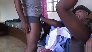 extreme fuck orgy with african babe