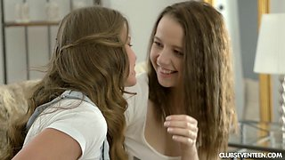 Erotic lesiban love making between sexy Mia G and Olivia Grace