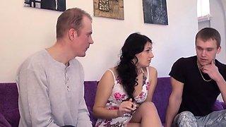 Alluring russian brunette Jennifer Kush actively fucked