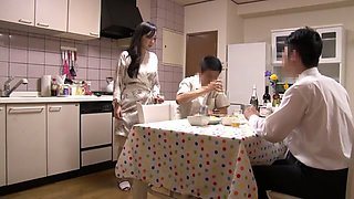 Fabulous Japanese model in Exotic Cuckold, Wife JAV movie