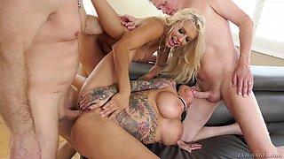 double penetrated one after another @ anal couples swap