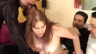 Slutty mature gets fucked in all holes