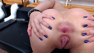 horny girl anal toy masturbation