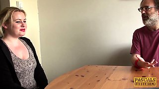 PASCALSSUBSLUTS - Amber West dommed and jizzed in mouth