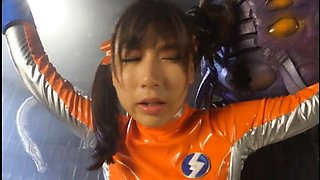 Sexy Oriental girl in uniform indulges in kinky sex action
