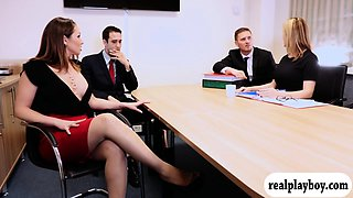 Office woman pussy fingered and screwed by her coworker