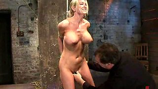 Gorgeous Blonde Gets Tied Up and Abused In BDSM Vid