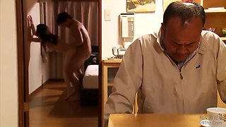 Japanese Cuckold Fornicate In Front Of Her Husband