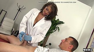 WANKZ- Sexy Nurse Cassidy Helps Man Who Took Viagra