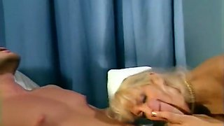 Blond Nurse Pleasing Her Patient Giving Him Her Pussy