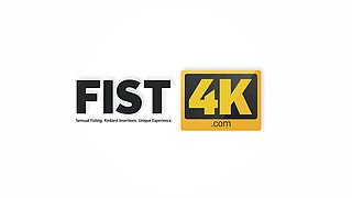 FIST4K. Having sexual slave is great cause man always can fist her vagina
