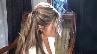 Cute teen smoking