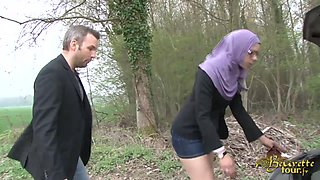 French man public fucking with a hot Arab slut