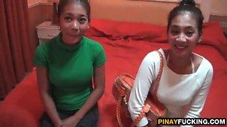 Shy filipina girls april and may pleasing his dick1