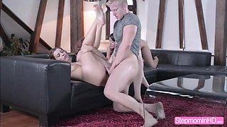 Horny babe Susan seduces the boyfriend to do an erotic threesome