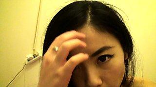 Delightful Korean girl shows off her juicy holes on webcam