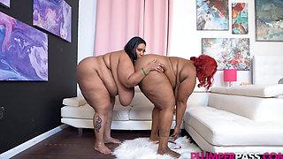 2 Big Titty Ebonies (Sexy Big Boob Nau T 2x BJ ONLY) 1080p