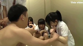 Japanese Students Stuck In Elevator
