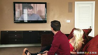 Blonde Wife Bored By Her Husband
