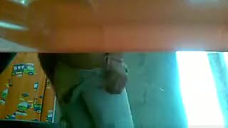 Toilet spycam catches girl pissing
