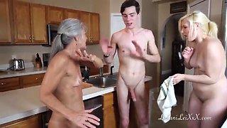 Freeze n shut up a taboo family threesome